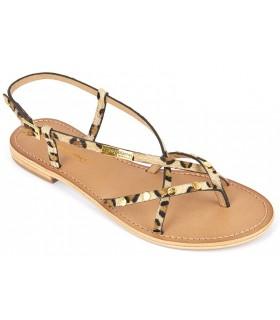 Sandalia leopardo para mujer
