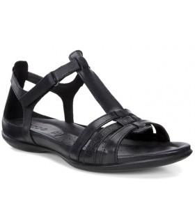 Sandalia negra de confort
