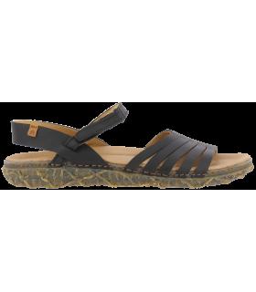 Sandalia negra con cierre de velcro