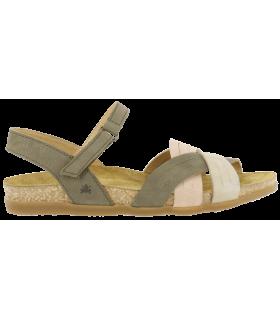 Sandalia combinada en kaki