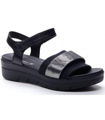Sandalia de color negro de confort