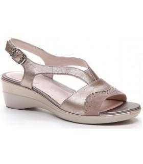 Sandalia de cuña en color bronce