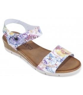 Sandalia estampada en color blanco