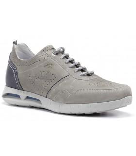 Zapatos de cordones en nobuck gris