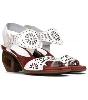 Sandalia de tacón perforado en color blanco