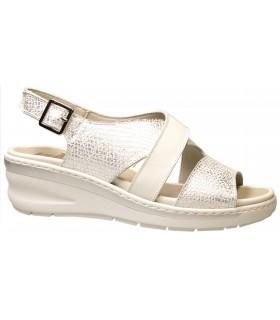 Sandalia para mujer en color plata
