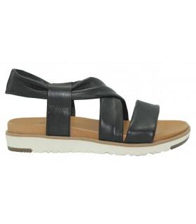 Sandalia de piel en color negro