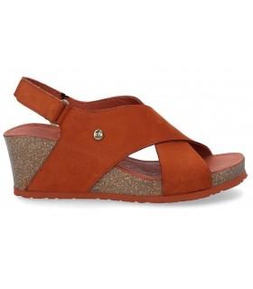 Sandalia bio de color teja