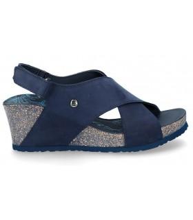 Sandalia de tiras cruzadas en azul marino