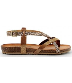 Sandalia para mujer en color cuero