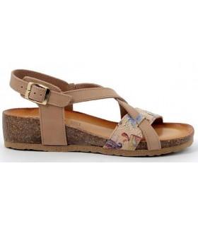 Sandalia para mujer con estampado