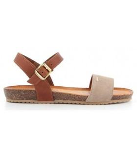 Sandalia de color taupe para mujer