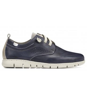 Zapato de cordones elásticos en azul marino