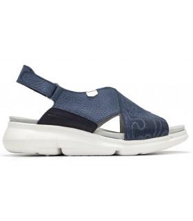 Sandalia cruzada de color azul