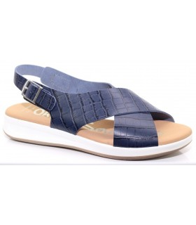 Sandalia para mujer en color azul