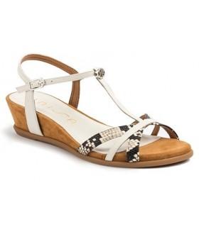 Sandalia para mujer en color blanco