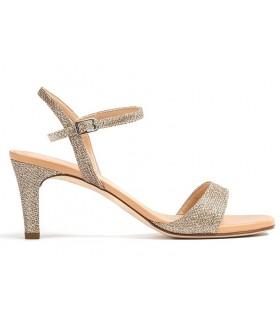 Sandalia de vestir en color platino