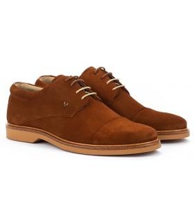 Zapatos Oxford en color cuero
