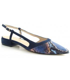Zapato de vestir en pitón azul