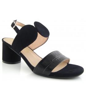 Sandalia para mujer en coco negro