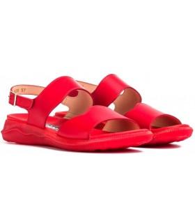 Sandalia de color rojo para mujer