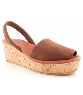 Sandalia menorquina para mujer con plataforma