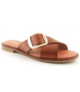 Sandalia en coco cuero