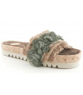 Sandalia para mujer en color verde
