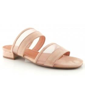 Sandalia en ante de color natural