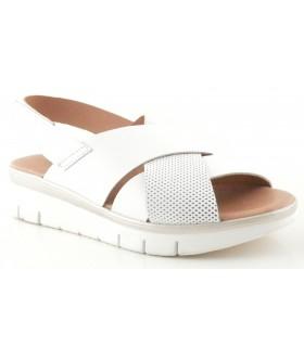 Sandalia para mujer en piel blanca