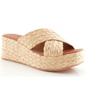 Sandalia de rafia color natural