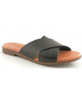 Sandalia en coco negro