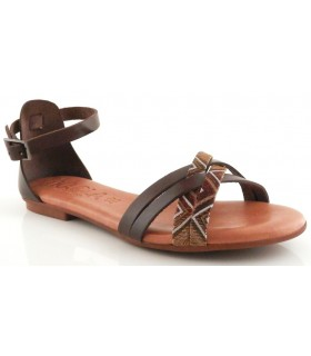 Sandalia para mujer en color marrón