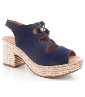 Sandalia con plataforma en color azul marino