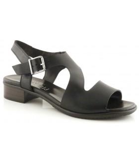 Sandalias de becerro negro para mujer