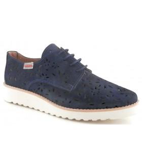 Zapato con el corte calado en color azul