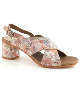 Sandalia estampada multicolor