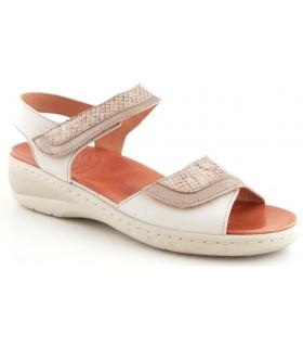 Sandalia de confort en color beige