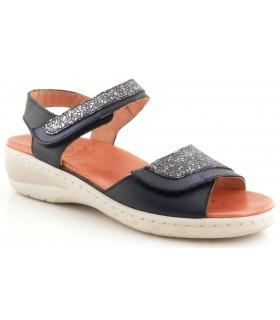 Sandalia de ancho especial en color azul marino