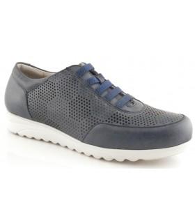 Zapato con elásticos en color azul marino