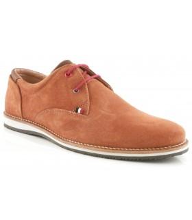 Zapatos de cordones en serraje cuero