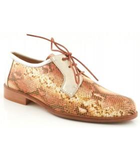 Zapatos de cordones con grabado serpiente