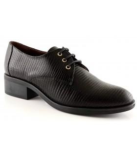Zapato con cordones en tejus negro