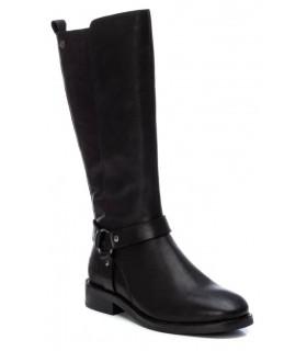 Botas de caña alta en piel negra
