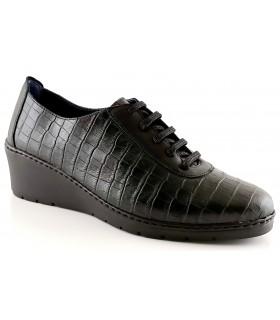 Zapatos de cordones en coco negro