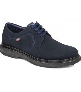 Zapato de cordones ante azul