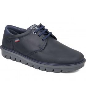 Zapatos de cordones en nobuck azul