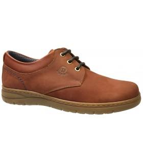 Zapato en piel engrasada de color marrón