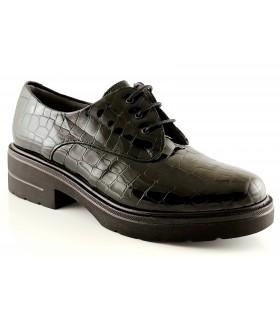 Zapatos de cordones color negro con plataforma