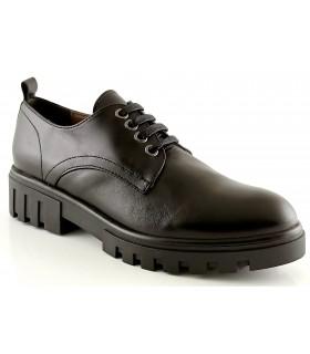 Zapatos de cordones en piel negra